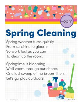 spring cleaning oom word family poem of the week long vowel