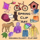 Spring and Summer Clip Art - Realistic - 300 DPi PNG