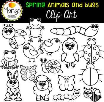 Spring Animal and Bug Clip Art