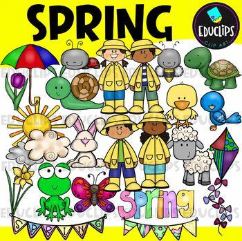 Spring Clip Art Bundle {Educlips Clipart}