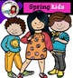 Spring Clip Art -Color and B&W-