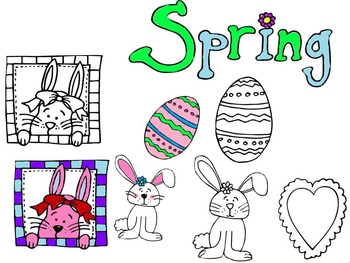 Spring Clip Art Freebie!  Easter, Bunnies, Eggs, Kids, and More!