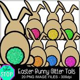 Spring Clip Art Easter Bunny Glitter Tails {The Teacher Stop}