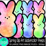 Spring Clip Art Easter Watercolor Peeps {The Teacher Stop}