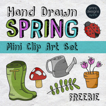 Spring Clip Art FREEBIE - Print Designs by Kris