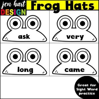 Spring Clip Art {Frog Hats}