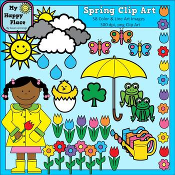 Spring Clip Art (Graphics for Commercial Use)