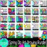 Spring Clip Art Bundle - Eggs, Baseball, Peeps, Chicks, Ra