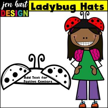 Spring Clip Art {Ladybug Hats}