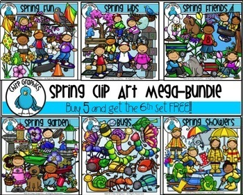 Spring Clip Art Mega-Bundle - Chirp Graphics