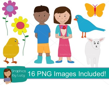 Spring Clip Art Set! 16 PNG Images {Personal & Commercial Use}