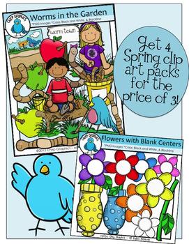 Spring Clip Art Bundle - Chirp Graphics