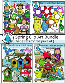 Spring Clip Art Bundle - Chirp Graphics