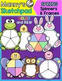 Bunny, Frog and Spring Spinners & Frames Clip Art