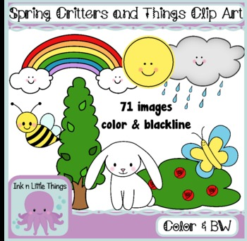 Spring Clip Art - Spring Critters and Things Clipart