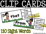 Spring Clip Card Literacy Center - Sight Word Clip Cards - 110 Sight word cards!