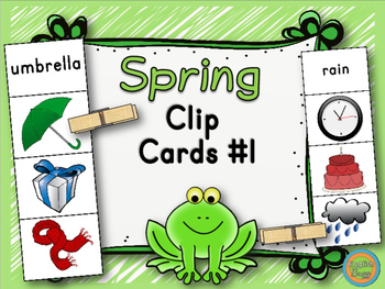 Spring - Clip Cards Game #1