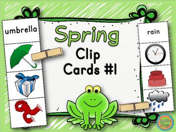 Spring - Clip Cards Game #1