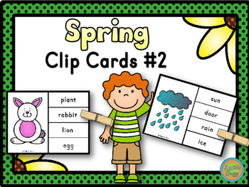 Spring - Clip Cards Game #2