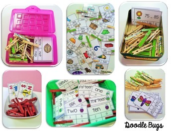 Spring Clip Cards: Numbers, Telling Time, Counting, Facts, ABC order & More