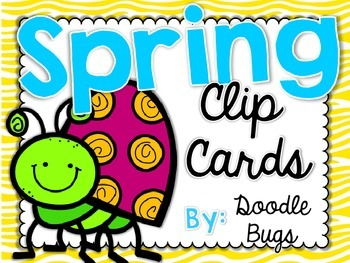Spring Clip Cards: Numbers, Telling Time, Counting, Facts,
