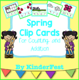 Spring Clip Cards for Counting and Addition