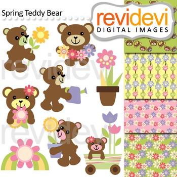 Spring Clip art - Teddy Bear