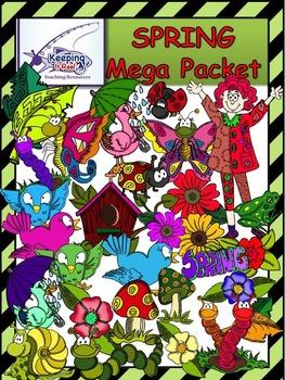 Spring Clipart MEGA PACKET