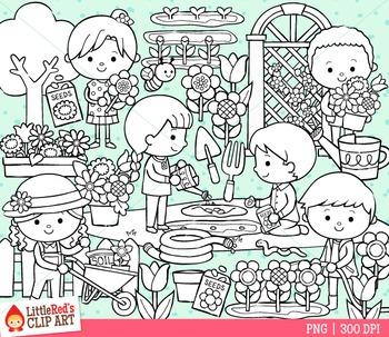 Spring Gardening Clipart