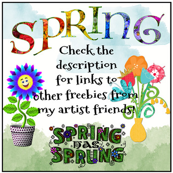 Spring Clipart FREEBIE | Clip Artists' Collab