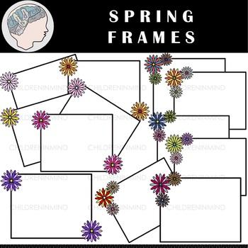 Spring Clipart - Flower Clipart - Border Clipart - Frame Clipart -Easter Clipart