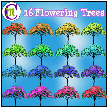 Spring Clipart Flowering Trees CM