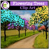 Spring Clipart Flowering Trees CM