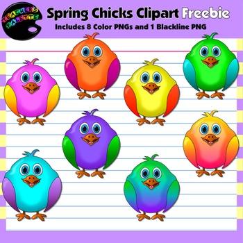 Spring Clipart Freebie--Chirping Chicks