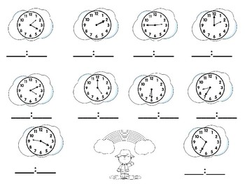 Spring Clocks and AM and PM Sort