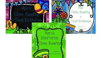 Spring Close Reading Bundle