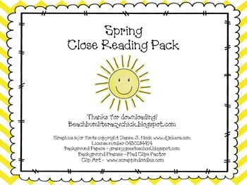 Spring - Close Reading Pack
