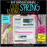 Spring Close Reading Passages {Text-Dependent Questions and Google Classroom!}
