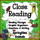 Spring Close Reading Unit {Reading, Questions, Graphic Organizers)