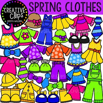 spring clothes clipart creative clips clipart tpt