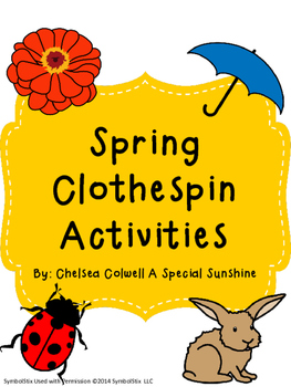 Spring Clothespin Activities
