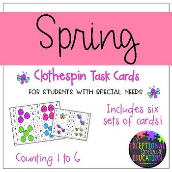 """Spring Clothespin """"Count and Clip"""" Cards"""