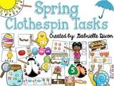 Spring Clothespin Tasks #springintosped3
