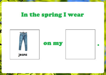 Spring Clothing - Adapted Book for Autism
