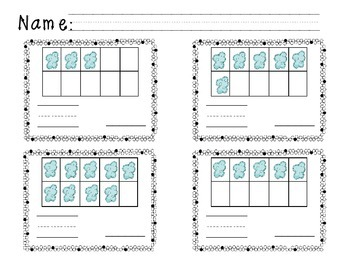 Ten Frame Math {Spring, Cloudy with a Chance}