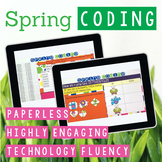 Spring Coding Digital Interactive Activities for Google Slides or PowerPoint