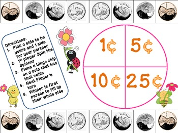 Spring Coin Recognition/Coin Value Game