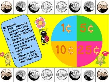 Spring Coin Recognition/Coin Value Game