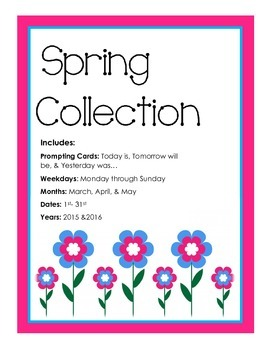 Spring Collection Calender Activity