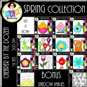 Spring Collection Clip Art●Cheaper By The Dozen Growing Bundle●Commercial Use